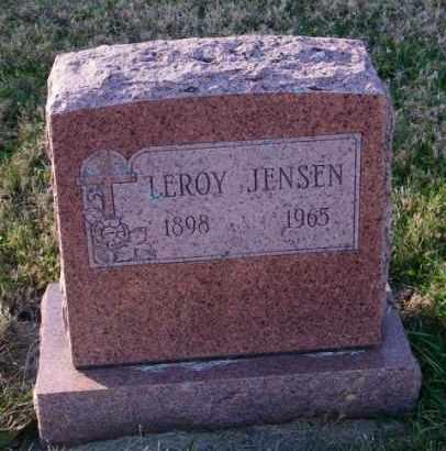 JENSEN, LEROY - Lincoln County, South Dakota   LEROY JENSEN - South Dakota Gravestone Photos