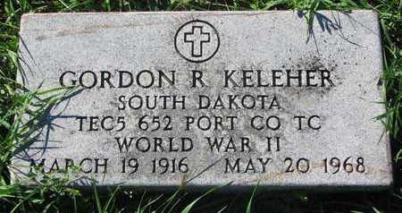 KELEHER, GORDON R. (MILITARY) - Lincoln County, South Dakota   GORDON R. (MILITARY) KELEHER - South Dakota Gravestone Photos