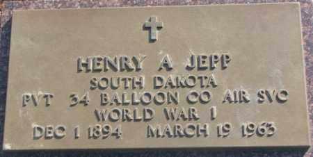 JEPP, HENRY A. - Lincoln County, South Dakota | HENRY A. JEPP - South Dakota Gravestone Photos