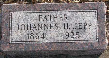 JEPP, JOHANNES H. - Lincoln County, South Dakota   JOHANNES H. JEPP - South Dakota Gravestone Photos