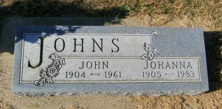 JOHNS, JOHANNA - Lincoln County, South Dakota | JOHANNA JOHNS - South Dakota Gravestone Photos