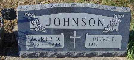 JOHNSON, PALMER O - Lincoln County, South Dakota | PALMER O JOHNSON - South Dakota Gravestone Photos