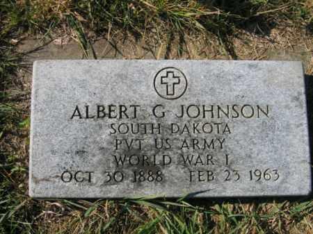 JOHNSON, ALBERT G - Lincoln County, South Dakota | ALBERT G JOHNSON - South Dakota Gravestone Photos
