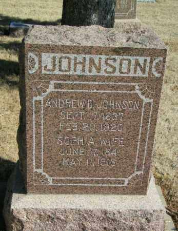 JOHNSON, ANDREW D - Lincoln County, South Dakota | ANDREW D JOHNSON - South Dakota Gravestone Photos