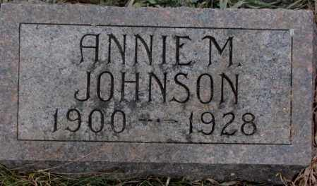 JOHNSON, ANNIE M. - Lincoln County, South Dakota | ANNIE M. JOHNSON - South Dakota Gravestone Photos