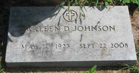 JOHNSON, ARLEEN D. - Lincoln County, South Dakota   ARLEEN D. JOHNSON - South Dakota Gravestone Photos