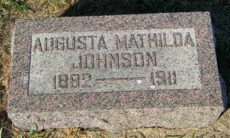 JOHNSON, AUGUSTA MATHILDA - Lincoln County, South Dakota   AUGUSTA MATHILDA JOHNSON - South Dakota Gravestone Photos