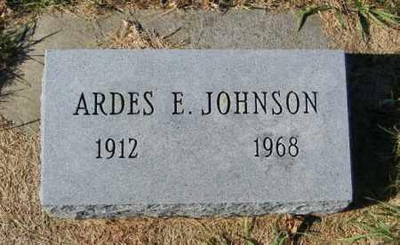JOHNSON, ARDES E - Lincoln County, South Dakota | ARDES E JOHNSON - South Dakota Gravestone Photos