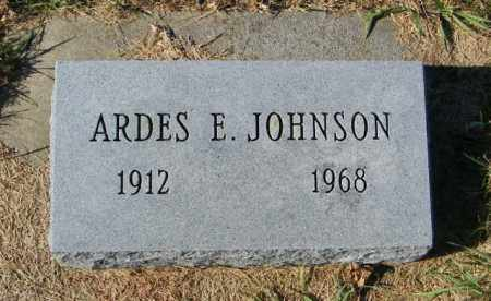JOHNSON, ARDES E - Lincoln County, South Dakota | ARDES E JOHNSON - South Dakota Gravestone Photos