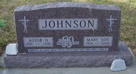 JOHNSON, ASTOR O - Lincoln County, South Dakota | ASTOR O JOHNSON - South Dakota Gravestone Photos