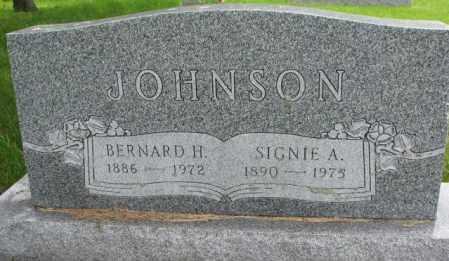 JOHNSON, BERNARD H. - Lincoln County, South Dakota | BERNARD H. JOHNSON - South Dakota Gravestone Photos