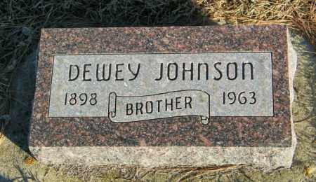 JOHNSON, DEWEY - Lincoln County, South Dakota | DEWEY JOHNSON - South Dakota Gravestone Photos