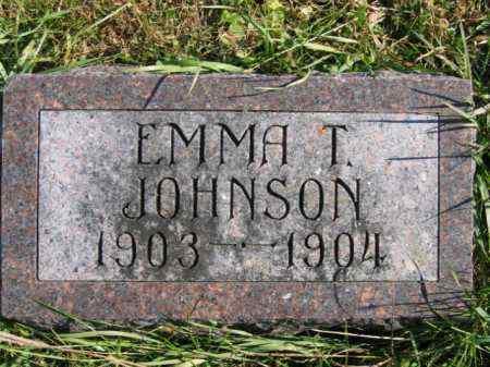 JOHNSON, EMMA T - Lincoln County, South Dakota   EMMA T JOHNSON - South Dakota Gravestone Photos