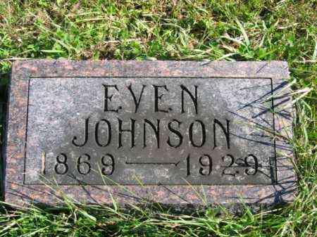 JOHNSON, EVEN - Lincoln County, South Dakota | EVEN JOHNSON - South Dakota Gravestone Photos