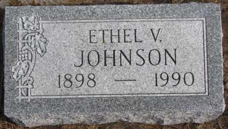 JOHNSON, ETHEL V. - Lincoln County, South Dakota | ETHEL V. JOHNSON - South Dakota Gravestone Photos