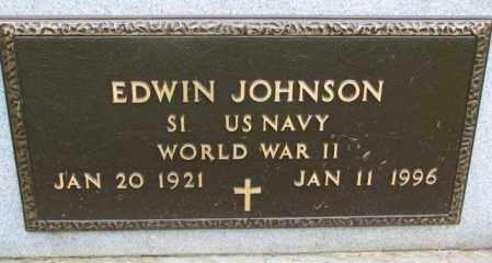JOHNSON, EDWIN (WW II) - Lincoln County, South Dakota | EDWIN (WW II) JOHNSON - South Dakota Gravestone Photos