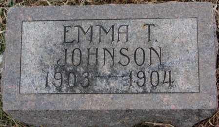 JOHNSON, EMMA T. - Lincoln County, South Dakota | EMMA T. JOHNSON - South Dakota Gravestone Photos