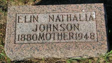 JOHNSON, ELIN NATHALIA - Lincoln County, South Dakota | ELIN NATHALIA JOHNSON - South Dakota Gravestone Photos