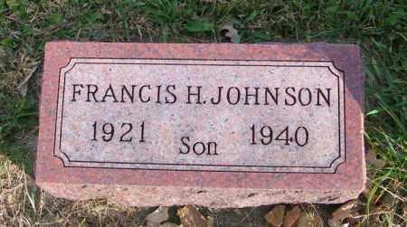 JOHNSON, FRANCIS H. - Lincoln County, South Dakota | FRANCIS H. JOHNSON - South Dakota Gravestone Photos