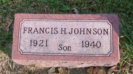 JOHNSON, FRANCIS H. - Lincoln County, South Dakota | FRANCIS H. JOHNSON - South Dakota Gravestone Photos