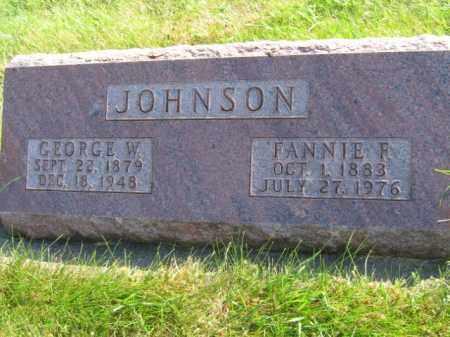 JOHNSON, GEORGE W - Lincoln County, South Dakota | GEORGE W JOHNSON - South Dakota Gravestone Photos