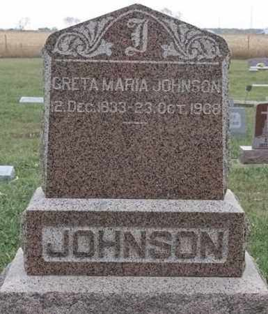 JOHNSON, GRETA MARIA - Lincoln County, South Dakota   GRETA MARIA JOHNSON - South Dakota Gravestone Photos