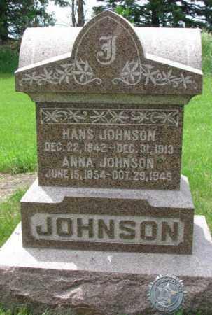 JOHNSON, HANS - Lincoln County, South Dakota | HANS JOHNSON - South Dakota Gravestone Photos
