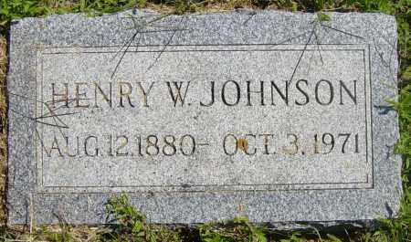 JOHNSON, HENRY W - Lincoln County, South Dakota | HENRY W JOHNSON - South Dakota Gravestone Photos