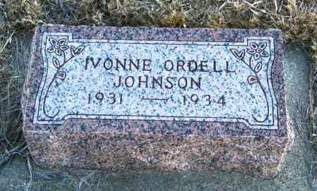JOHNSON, IVONNE ORDELL - Lincoln County, South Dakota | IVONNE ORDELL JOHNSON - South Dakota Gravestone Photos