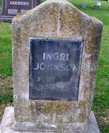 JOHNSON, INGRI - Lincoln County, South Dakota | INGRI JOHNSON - South Dakota Gravestone Photos