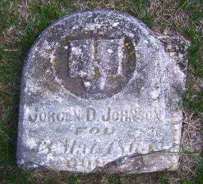 JOHNSON, JORGEN D - Lincoln County, South Dakota   JORGEN D JOHNSON - South Dakota Gravestone Photos