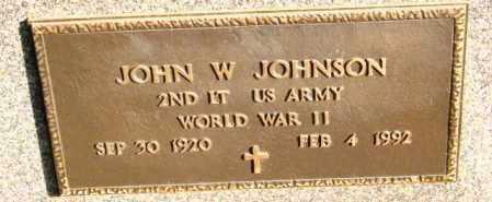 JOHNSON, JOHN W - Lincoln County, South Dakota | JOHN W JOHNSON - South Dakota Gravestone Photos