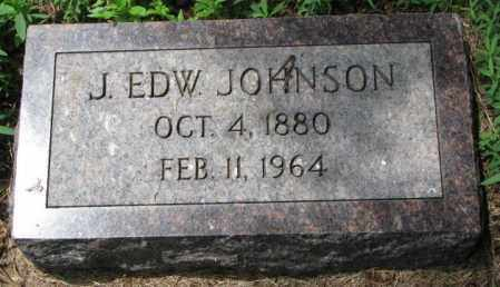 JOHNSON, J. EDW. - Lincoln County, South Dakota | J. EDW. JOHNSON - South Dakota Gravestone Photos