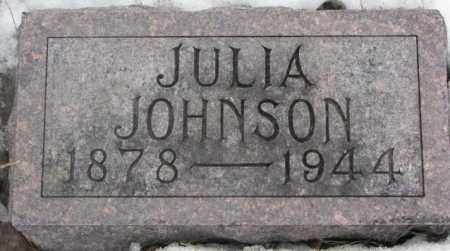 JOHNSON, JULIA - Lincoln County, South Dakota | JULIA JOHNSON - South Dakota Gravestone Photos