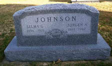 JOHNSON, JORGEN A. - Lincoln County, South Dakota   JORGEN A. JOHNSON - South Dakota Gravestone Photos