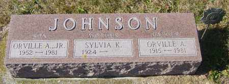 JOHNSON JR, ORVILLE A - Lincoln County, South Dakota | ORVILLE A JOHNSON JR - South Dakota Gravestone Photos