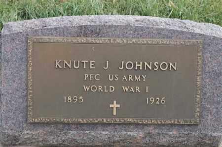 JOHNSON, KNUTE J - Lincoln County, South Dakota   KNUTE J JOHNSON - South Dakota Gravestone Photos
