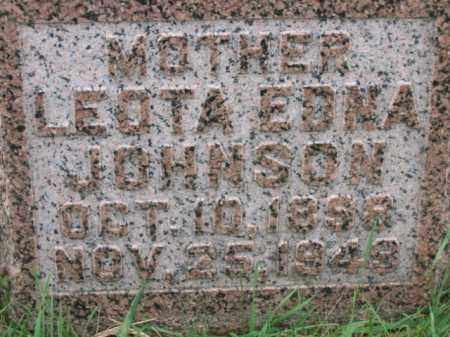JOHNSON, LEOTA EDNA - Lincoln County, South Dakota   LEOTA EDNA JOHNSON - South Dakota Gravestone Photos