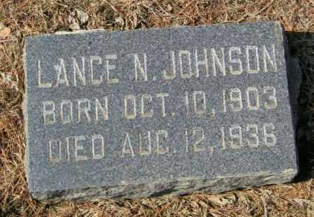 JOHNSON, LANCE N - Lincoln County, South Dakota   LANCE N JOHNSON - South Dakota Gravestone Photos