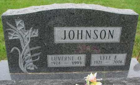 JOHNSON, LYLE E. - Lincoln County, South Dakota | LYLE E. JOHNSON - South Dakota Gravestone Photos
