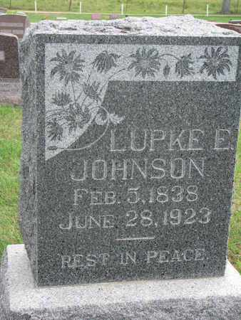 JOHNSON, LUPKE E. - Lincoln County, South Dakota   LUPKE E. JOHNSON - South Dakota Gravestone Photos