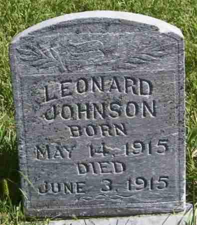 JOHNSON, LEONARD - Lincoln County, South Dakota | LEONARD JOHNSON - South Dakota Gravestone Photos