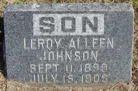 JOHNSON, LEROY ALLEEN - Lincoln County, South Dakota | LEROY ALLEEN JOHNSON - South Dakota Gravestone Photos