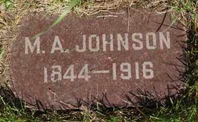 JOHNSON, M A - Lincoln County, South Dakota | M A JOHNSON - South Dakota Gravestone Photos