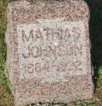 JOHNSON, MATHIAS - Lincoln County, South Dakota   MATHIAS JOHNSON - South Dakota Gravestone Photos