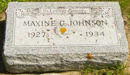 JOHNSON, MAXINE G - Lincoln County, South Dakota | MAXINE G JOHNSON - South Dakota Gravestone Photos