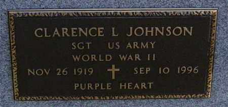JOHNSON MILITARY, CLARENCE L - Lincoln County, South Dakota | CLARENCE L JOHNSON MILITARY - South Dakota Gravestone Photos