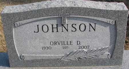 JOHNSON, ORVILLE D. - Lincoln County, South Dakota   ORVILLE D. JOHNSON - South Dakota Gravestone Photos