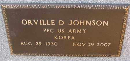 JOHNSON, ORVILLE D. (KOREA) - Lincoln County, South Dakota | ORVILLE D. (KOREA) JOHNSON - South Dakota Gravestone Photos