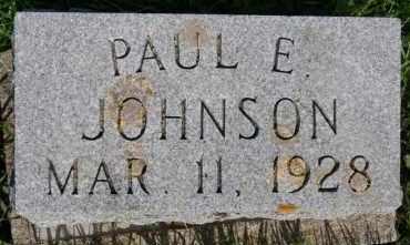 JOHNSON, PAUL E - Lincoln County, South Dakota | PAUL E JOHNSON - South Dakota Gravestone Photos